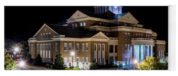 Municipal Center At Night - North Augusta Sc Yoga Mat