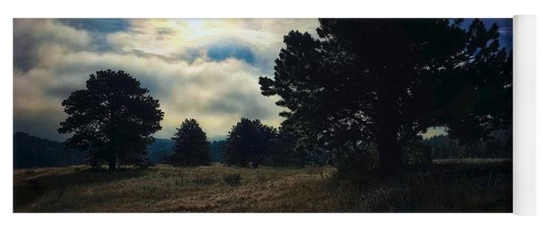 Yoga Mat featuring the photograph Murky Atmosphere Elk Meadow by Dan Miller