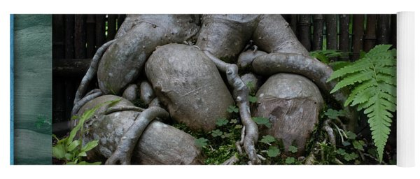 Yoga Mat featuring the photograph Muscular Bonsai Roots by Richard Goldman