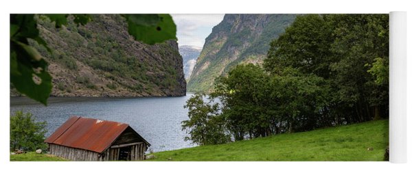 Yoga Mat featuring the photograph Naeroyfjord, Norway by Andreas Levi