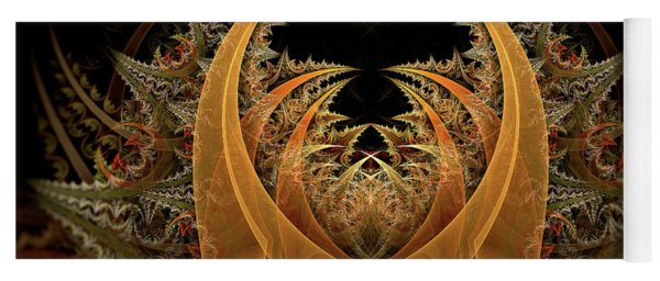 Yoga Mat featuring the digital art Nahum by Missy Gainer
