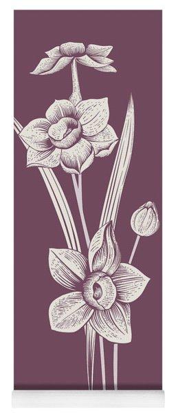 Narcissus Purple Flower Yoga Mat