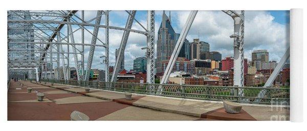 Nashville Cityscape From The Bridge Yoga Mat