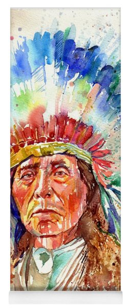Native American Chief Yoga Mat