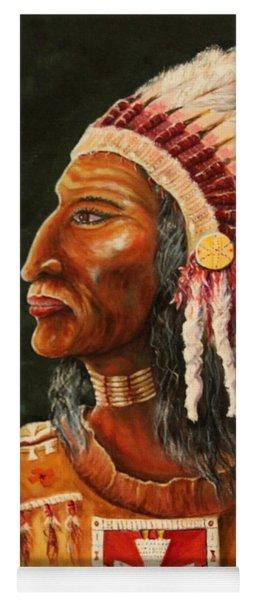 Native American Indian Chief Yoga Mat