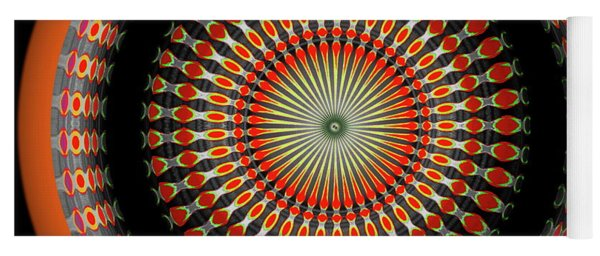 Yoga Mat featuring the digital art Native American Sun Two by Visual Artist Frank Bonilla