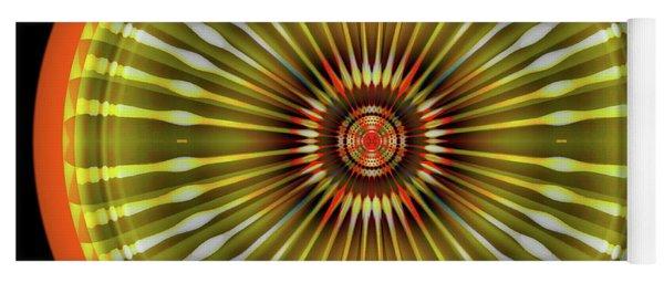 Yoga Mat featuring the digital art Native American Sun by Visual Artist Frank Bonilla