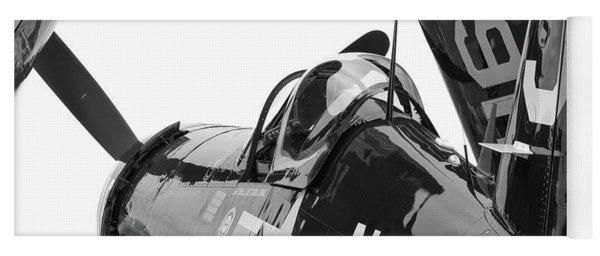 Navy Corsair In Black And White Yoga Mat