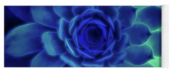Neon Blue Sempervivum Yoga Mat