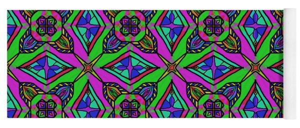 Neon Diamond Pattern Yoga Mat