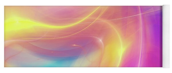 Neon Light  Cosmic Rays Yoga Mat