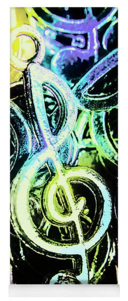 Neon Notes Yoga Mat