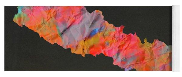 Nepal Tie Dye Country Map Yoga Mat