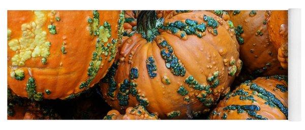 Yoga Mat featuring the photograph Nestled - Autumn Pumpkins by Debi Dalio