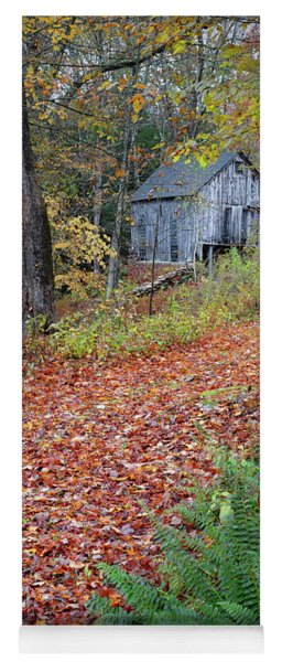 Yoga Mat featuring the photograph New England Autumn Woods by Bill Wakeley