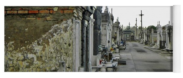 Yoga Mat featuring the photograph New Orleans Cemetery by Rosanne Licciardi
