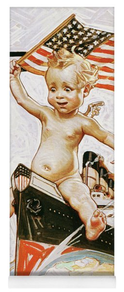New Year Baby 1914 - Digital Remastered Edition Yoga Mat