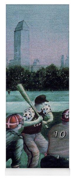 New York Central Park Baseball - Watercolor Art Painting Yoga Mat