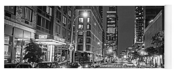 New York City Gotham West Market New York Ny Black And White Yoga Mat