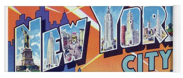 New York City Greetings - Version 2 Yoga Mat