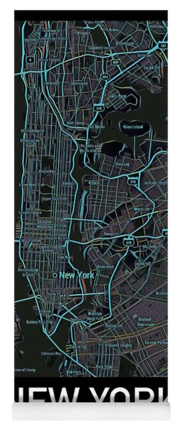 New York City Map Black Edition Yoga Mat