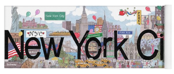 New York City  Yoga Mat