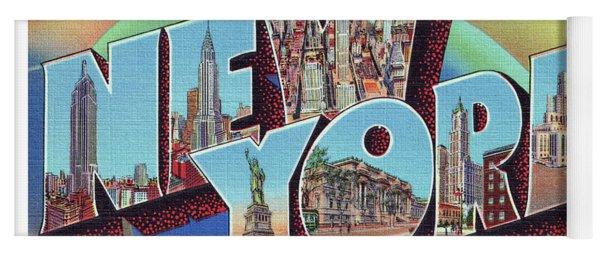 New York Greetings - Version 2 Yoga Mat