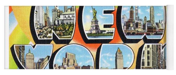 New York Greetings - Version  3 Yoga Mat