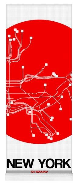 New York Red Subway Map Yoga Mat