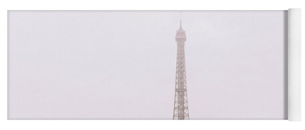Newly-wed Couple On Their Honeymoon In Paris, Loving Having A Date Near The Eiffel Tower Yoga Mat