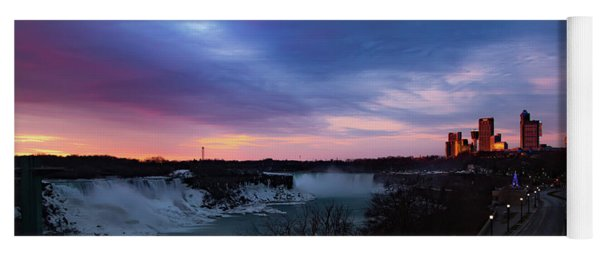 Yoga Mat featuring the photograph Niagara Falls At Sunrise by Lora J Wilson