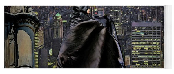 Night Of The Bat Man Yoga Mat