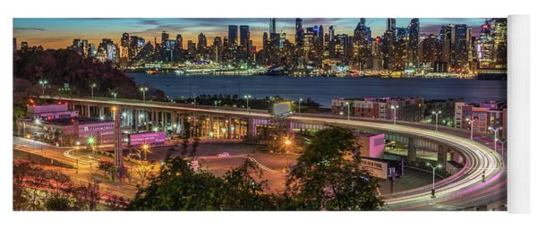 Yoga Mat featuring the photograph Nj And Ny Sunrise by Francisco Gomez
