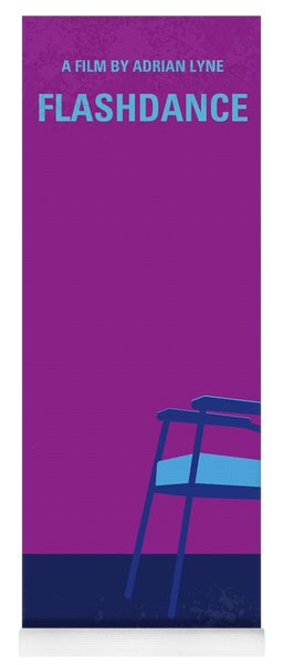No1002 My Flashdance Minimal Movie Poster Yoga Mat