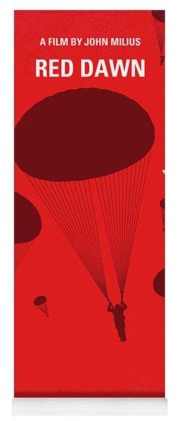 No1018 My Red Dawn Minimal Movie Poster Yoga Mat