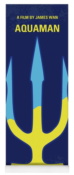 No1052 My Aquaman Minimal Movie Poster Yoga Mat