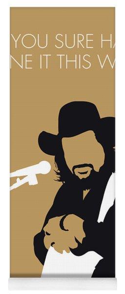 No280 My Waylon Jennings Minimal Music Poster Yoga Mat