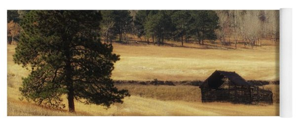 Yoga Mat featuring the photograph Noble Meadow Barn by Lukas Miller