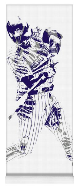 Nolan Arenado Colorado Rockies Pixel Art 120 Yoga Mat