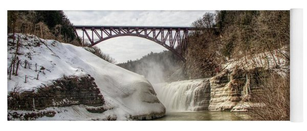 Winter At Letchworth State Park Yoga Mat