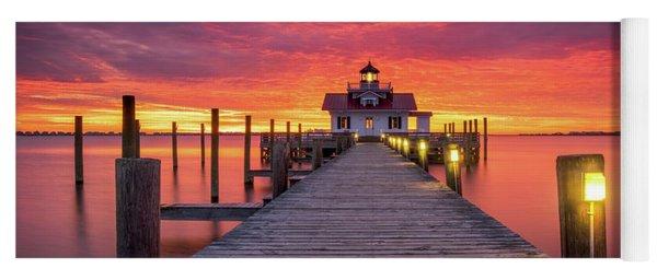 North Carolina Outer Banks Manteo Lighthouse Obx Nc Yoga Mat