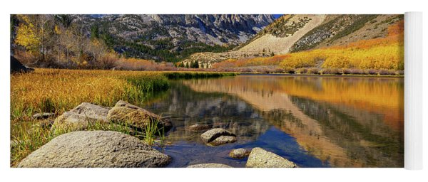 Yoga Mat featuring the photograph North Lake by Tassanee Angiolillo