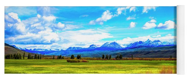 Yoga Mat featuring the photograph Northwest Wyoming Afternoon by Mike Braun