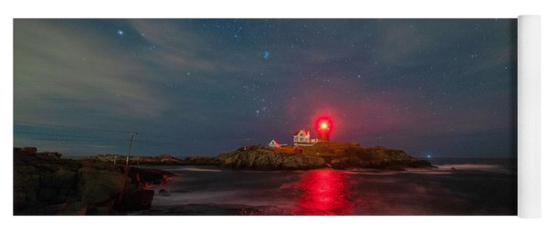 Nubble At Night Yoga Mat