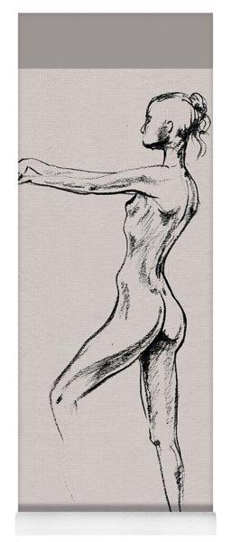 Nude Model Gesture Xix Yoga Mat