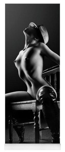 Nude Woman On Chair 2 Yoga Mat