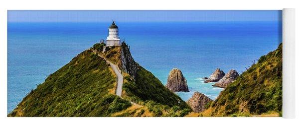 Nugget Point Lighthouse, New Zealand Yoga Mat