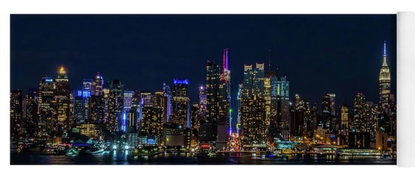 Yoga Mat featuring the photograph Nyc At Night by Francisco Gomez
