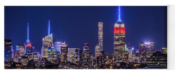 Yoga Mat featuring the photograph Nyc At The Blue Hour by Francisco Gomez