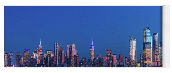 Yoga Mat featuring the photograph Nyc The Blue Hour by Francisco Gomez